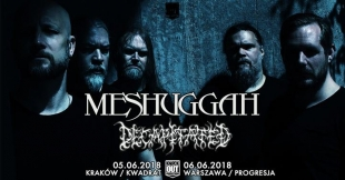 Meshuggah, Decapitated - Klub Kwadrat, Kraków - 05.06.18